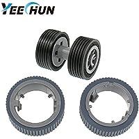 YEECHUN PA03670-0001 PA03670-0002 New Scanner Brake and Pick Roller Tire Set for Fujitsu Fi-7160 Fi-7180 Fi-7260 Fi-7280 Model: FI-C728PR FI-C728BR