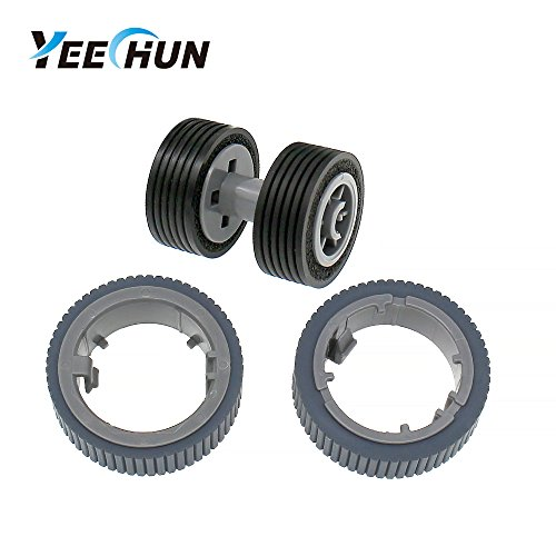 YEECHUN PA03670-0001 PA03670-0002 New Scanner Brake and Pick Roller Tire Set for Fujitsu Fi-7160 Fi-7180 Fi-7260 Fi-7280 Model: FI-C728PR FI-C728BR by YEECHUN