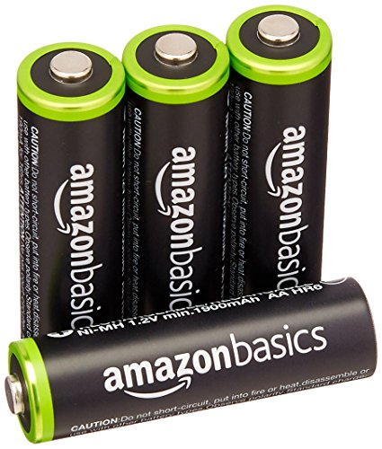 AmazonBasics Rechargeable Batteries 4 Pack Pre charged