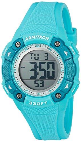 Armitron Sport Women's 45/7081LBL Digital Chronograph Teal Resin Strap Watch by Armitron Sport