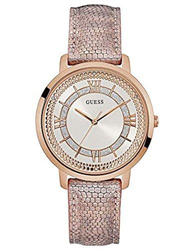 Guess Reloj Analógico para Mujer de Cuarzo con Correa en Cuero W0934L5: Amazon.es: Relojes