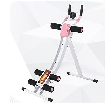 LMZZGAOYANQING Bent bar vientre cintura hermosa en máquina abdominal vertical la máquina para la máquina de ejercicio perezoso doble ajustable portátil ...