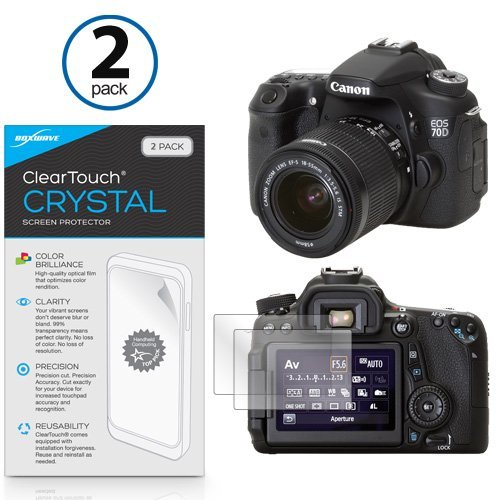 BoxWave Canon EOS 70D ClearTouch Anti-Glare Screen Protector (2-Pack) – Premium Quality Canon EOS 70D Anti-Glare, Anti-Fingerprint Matte Film Skin to Shield Against Scratches (Includes Lint Free Cleaning Cloth and Applicator Card)