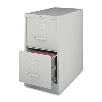Lorell 2 Drawer Vertical File, 15 By 22 By 28, Light Gray