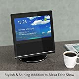 Stand for Echo Show 1th Gen, YoFeW Full Aluminum Stand Mount for Amazon Echo Show 1th Generation 360 Rotatable Metal Base Protector Accessories for Amazon Show with Precision Bearings