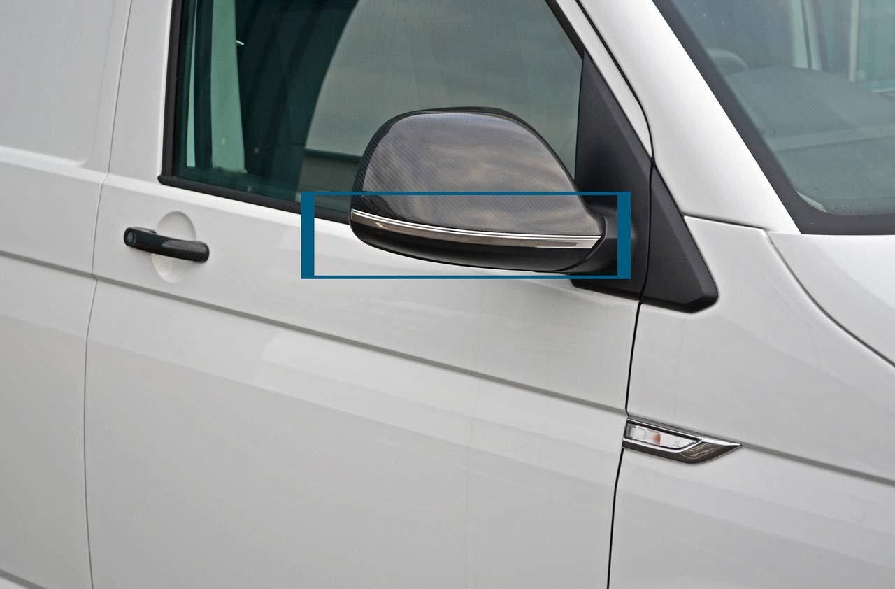2016 + Cubiertas de espejo inferior cromado para T6 Transporter