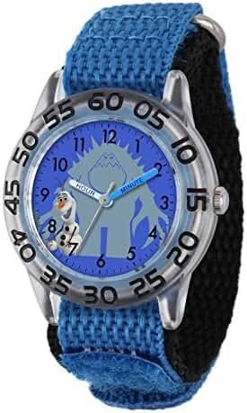 Disney Kids' W001787 Olaf Time Teacher Watch with Blue Band