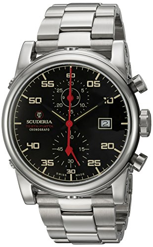 CT-Scuderia-Mens-Testa-Piatta-Swiss-Quartz-Stainless-Steel-Casual-Watch-ColorSilver-Toned-Model-CS30105