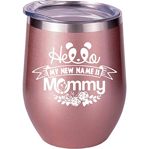 New Mom Gifts, Gifts For New Moms, Mom To Be Gifts, Mommy Christmas Birthday Gifts Ideas Mother, Wine Glass Cup (Mommy To Be Wine Glass)
