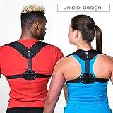 Back Brace Posture Corrector for Women & Men - Adjustable Posture Support for Shoulders - Back Pain Relief - Kyphosis Clavicle Brace Support Medical Device - Chest Support - Upper Back Pain -(S-M)