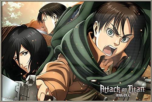 Attack on Titan Poster Anime Characters size 22x34