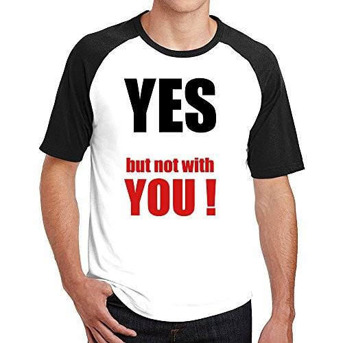 Fish Dark T-shirt - Yes But Not With You Cool Soft Cotton Gentleman Raglan Tshirts
