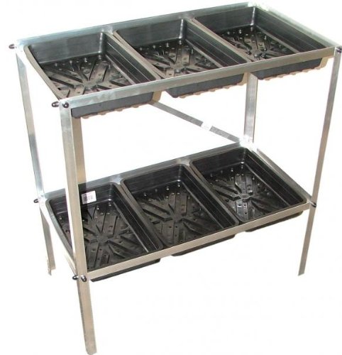 Budget Greenhouse Staging Seed Tray Frame two tier 477