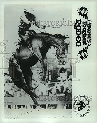 Toughest Cowboy Rodeo (1987 Press Photo A Rodeo Cowboy at the World's Toughest Rodeo in Wisconsin)