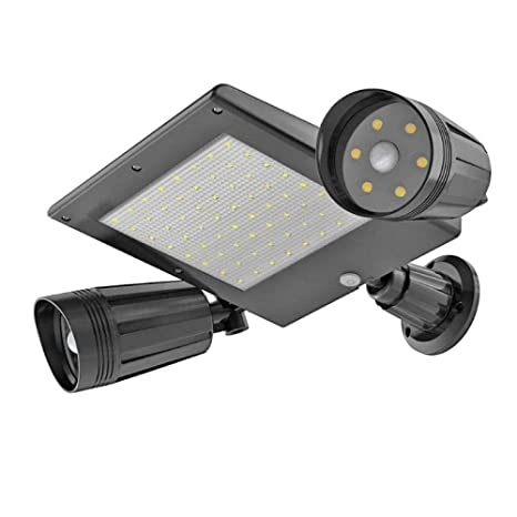 Sensor exterior exterior LED Doble cabeza Seguridad solar ...