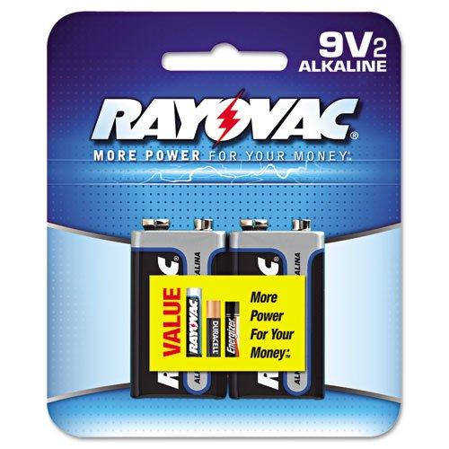 RAYOVAC A1604-2J 9-Volt Alkaline Batteries, 2 pk by Rayovac