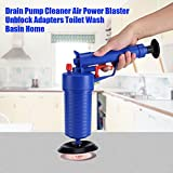 Toilet Plunger, High Pressure Manual Powerful