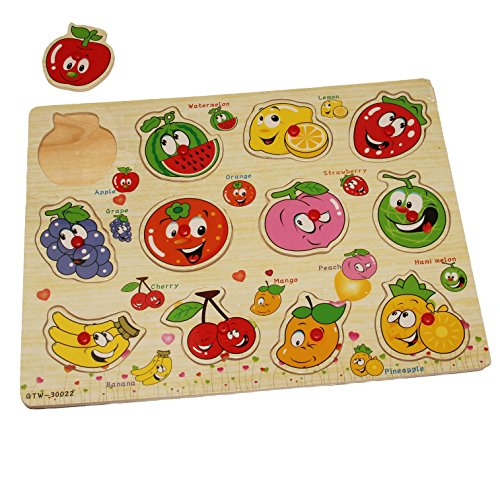 Dazzling Toys Kids Favorite Jumbo Fruits Knob Puzzle (Kids Puzzles With Knobs)