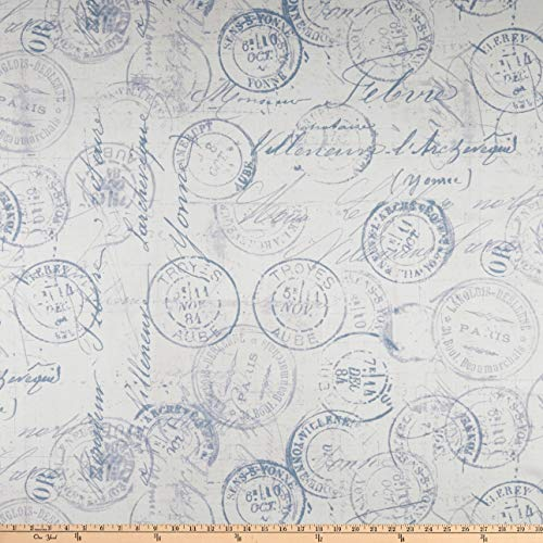 Quilt Dark Fabric Blue (FreeSpirit Fabrics Tim Holtz 108'' Quilt Back Correspondence Fabric, Blue, Fabric By The Yard)
