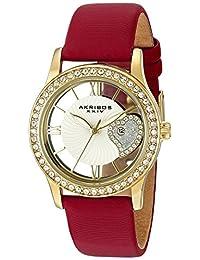 Akribos XXIV Women's AK811RD Analog Display Japanese Quartz Red Watch