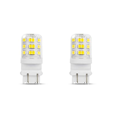 Makergroup 3157 3057 3156 3056 LED Light Bulbs 4W Xenon White 6000K for for Daytime Running Lights (DRL) and Back-Up/Reverse Packing Lights 2-Pack: Automotive