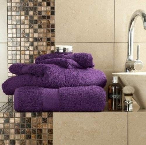 100% coton égyptien de luxe Serviette de bain Violet de qualité supérieure épais absorbant 700g/m²