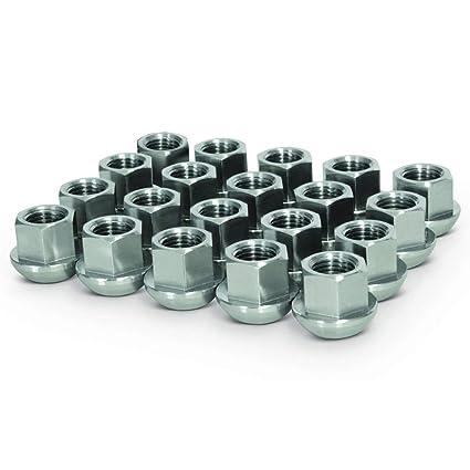 20 Pcs Ball Seat Lug Nuts 14x1.5 Black Replacement For Porsche Wheels