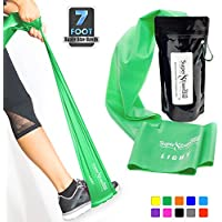 Super Exercise Band 7 ft. Long Resistance Bands. Flat...
