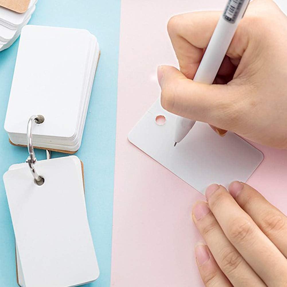 Eudola Schwarze Leere Seite Papier Notizbuch Mini Tragbar Notizbuch Spulen Notebook Leere Seiten Kleines Notizbuch f/ür Tagebuch Lernen Arbeit Treffen