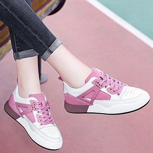 Zapatos Blancos Estudiante Mujeres Deportivos White Zapatos Zapatos Zapatos amp;G B pink NGRDX Casual xwEz4OEq