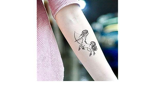Tatuaje Temporal de Centauro Sagitario (2 Piezas) - www.ohmytat ...