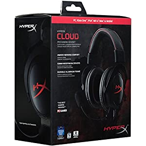 HyperX Cloud Gaming Headset for PC, Xbox One¹, PS4, PS4 PRO, Xbox One S¹, Nnintedo Switch (KHX-H3CL/WR) - Black