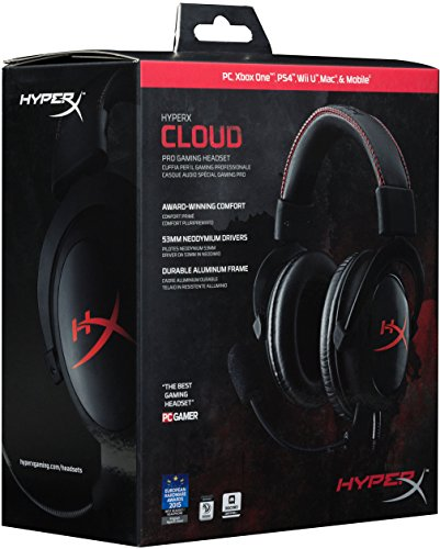 51j8ii 8hiL - HyperX-Cloud-Gaming-Headset-for-PC-Xbox-One-PS4-PS4-PRO-Xbox-One-S