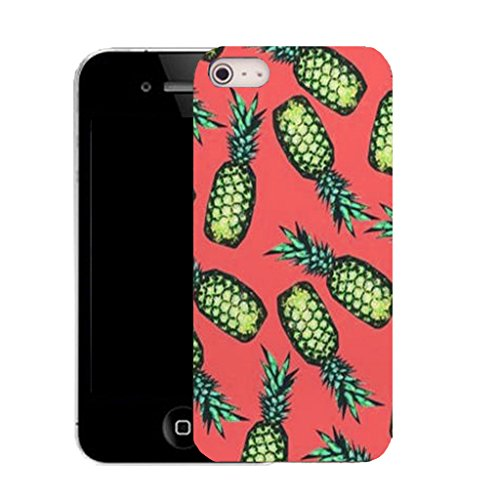 Mobile Case Mate IPhone 4 clip on Silicone Coque couverture case cover Pare-chocs + STYLET - PINK PINEAPPLE pattern (SILICON)