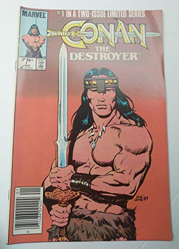 (Conan the Destroyer #1 Movie- Tie In Comic Book - Marvel Newsstand Edition - Arnold Schwarzenegger Cover)