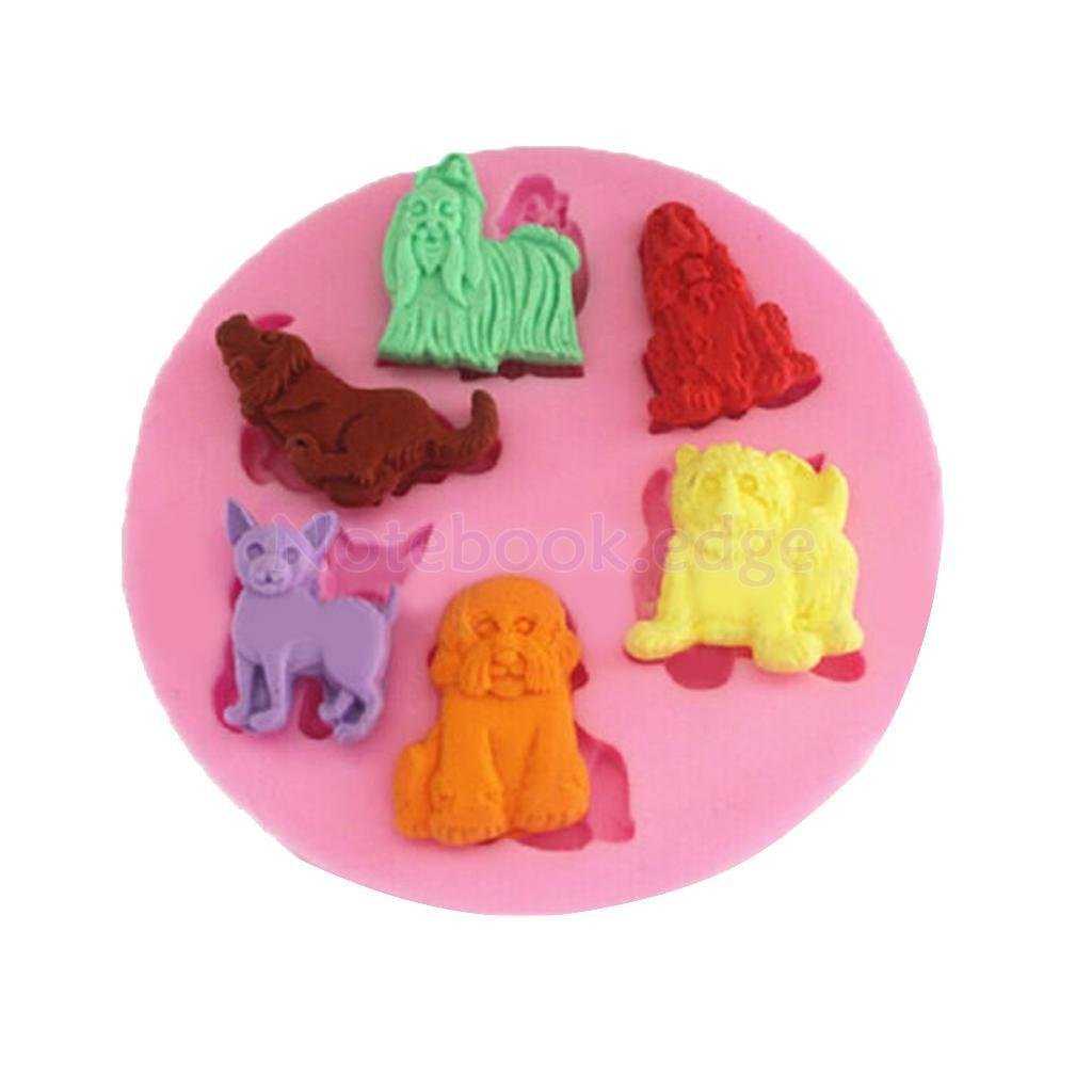 Mini Cupcake Cake Mold Bake Flexible Silicone 3D Animal Party Food Baking by notebook.edge