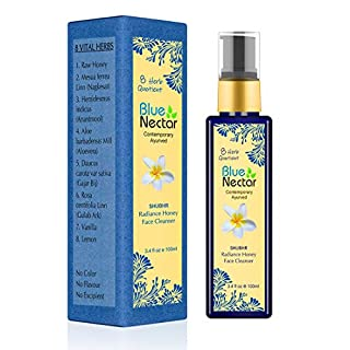 Blue Nectar Ayurvedic Honey and Aloevera Face Wash for Women and Men. All Skin Types (3.4 fl Oz)