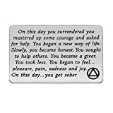 TIIMG Sobriety Gift Addiction Recovery Gift AA Gift NA Gift 12 Step Gifts Alcoholics Anonymous AA Recovery Sobriety Wallet Insert Card (You Got Sober)