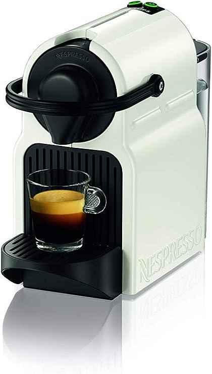 Krups Nespresso Inissia XN1001 Cafetera monodosis de cápsulas Nespresso, 19 bares, apagado automático, color blanco