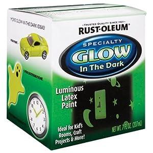 Rust Oleum 214945 Glow In The Dark 7 Ounce Glow In The Dark Wall Decor Stickers