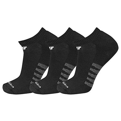 New Balance Men's 3 Pack Core Cotton No Show Socks Black L