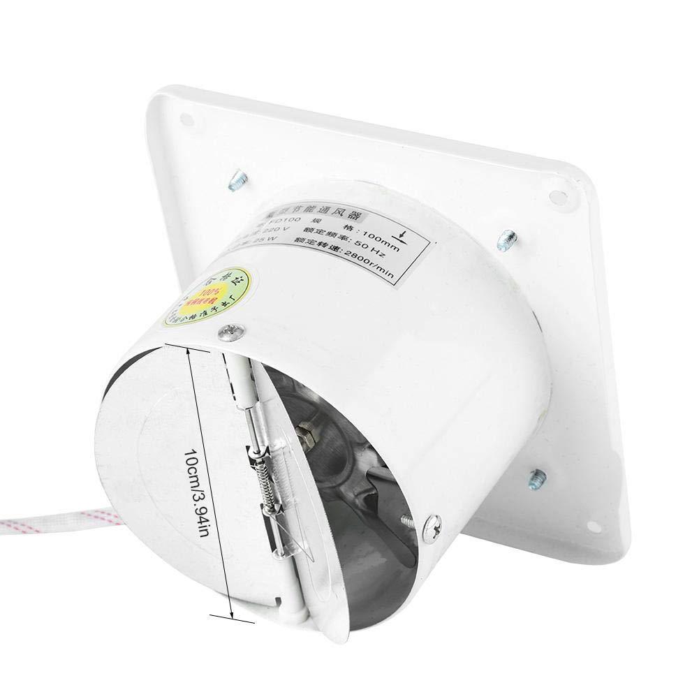 White 40W 220V Ventilador de escape montado en la pared Ventilaci/ón de ventilaci/ón de aire de bajo ruido para ba/ño Cocina Garaje Granero