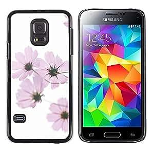 Be Good Phone Accessory // Dura Cáscara cubierta Protectora Caso Carcasa Funda de Protección para Samsung Galaxy S5 Mini, SM-G800, NOT S5 REGULAR! // White Spring Pink Flowers White