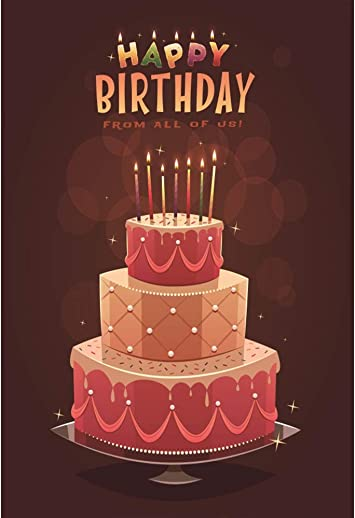 Excellent Amazon Com Leyiyi Happy Birthday Backdrop 6X8Ft Photography Funny Birthday Cards Online Barepcheapnameinfo