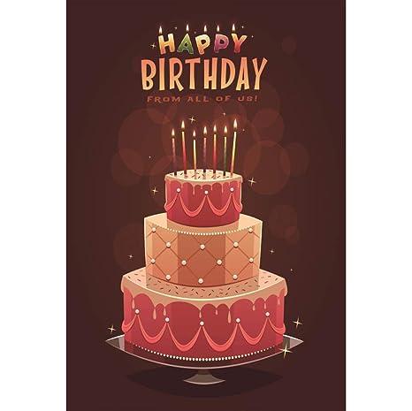 Amazon.com : Leyiyi Happy Birthday Backdrop 6x8ft Photography ...