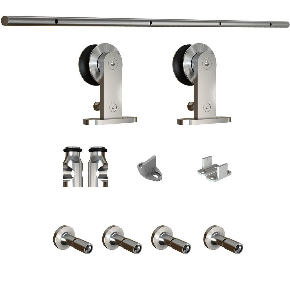 National Hardware N186-962 922 Decorative Interior Sliding Door Hardware in Stainless Steel, 72''