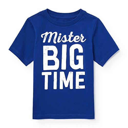 Blue Graphic Tee (The Children's Place Baby Boys' Short Sleeve Fashion T-Shirt, Edge Blue 89232, 4T)