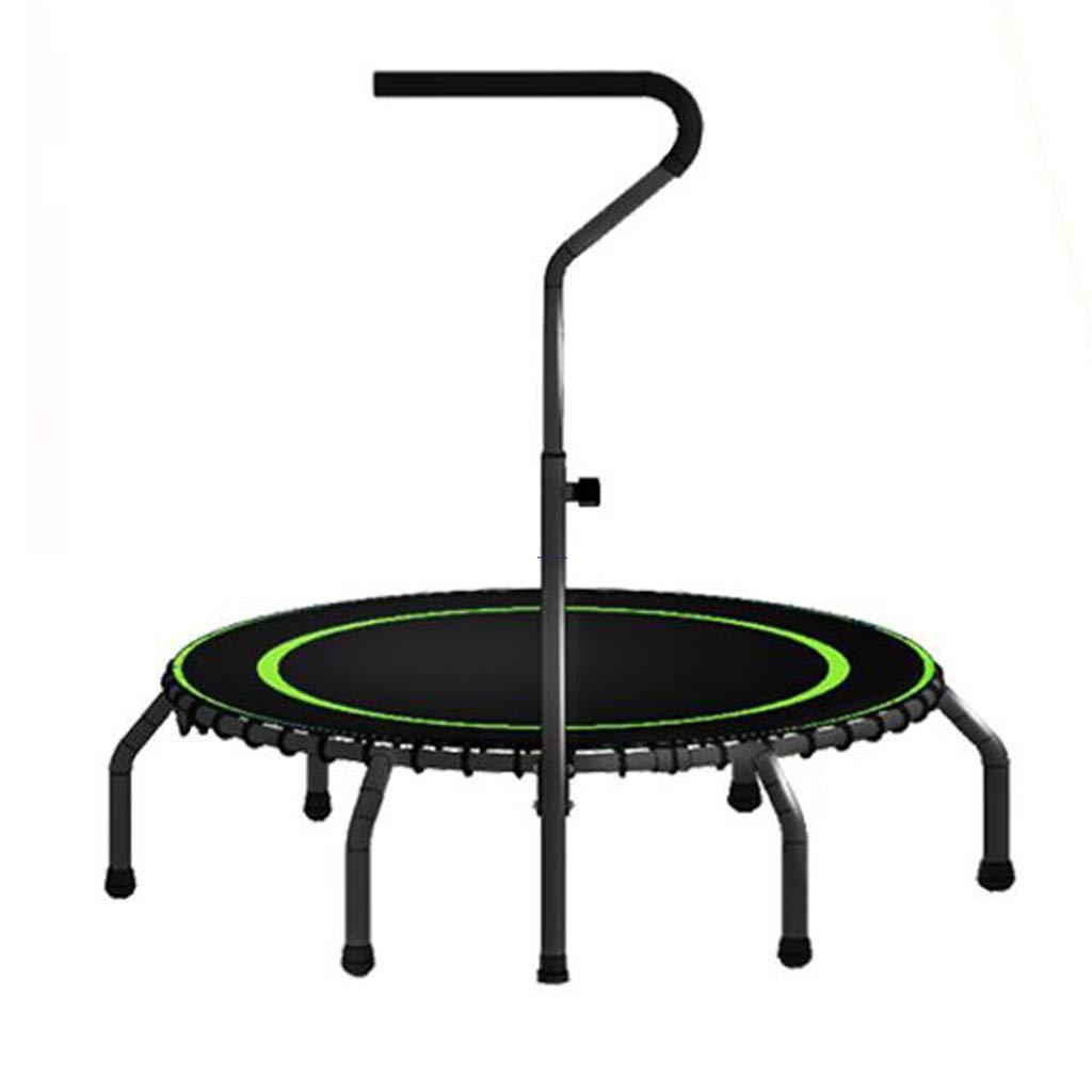 Indoortrampoline Trampoline-Innentrampolin Für Erwachsene Griff-Trampolin Für Professionelle Stretch-Trampolin-Heimtrainer (Farbe : Grün, Größe : 112  112  110cm)