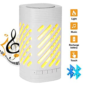 Odoland LED Camping Lights, Camp Night Light Camp Lighting with Bluetooth Speaker with 360 Degree Stereo Sound,Portable and Rechargeable with 3 Lighting Mode for Outdoors and Indoors