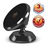 Magnetic Phone Car Mount - Best Phone Holder For Car iPhone Car Mount - Cell Phone Holder For Car - Samsung Galaxy Dash Phone Mount - New 2018 Universal Magnetic Phone Mount - Black